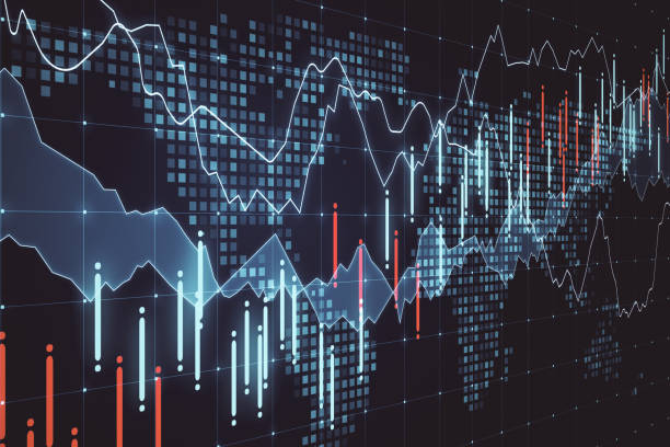 Global business and stats concept stock photo
