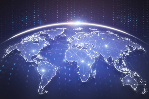 Global business background stock photo