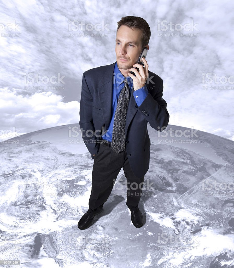 Global business call royalty-free stock photo