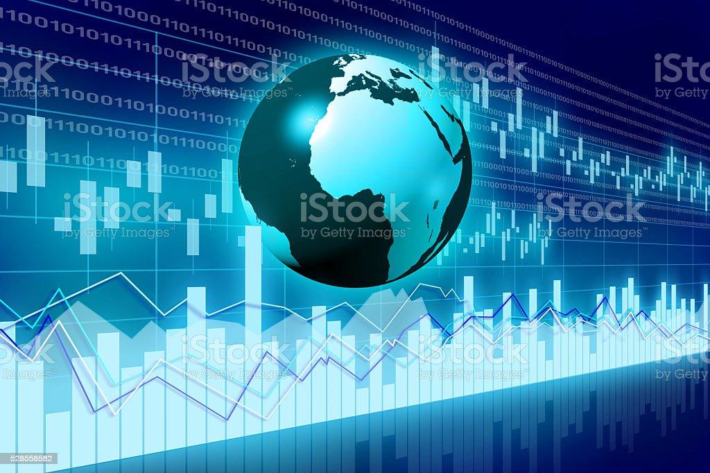 Global business chart stock photo