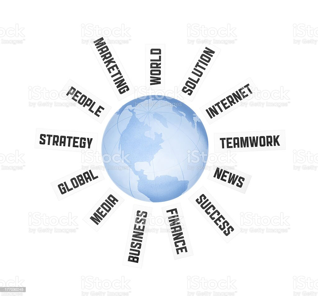 Global Business Communication Concept royalty-free stock photo
