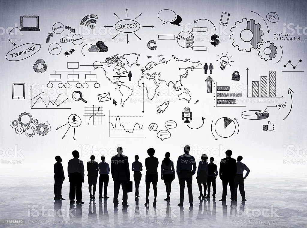 Negócios Global Communications - foto de acervo