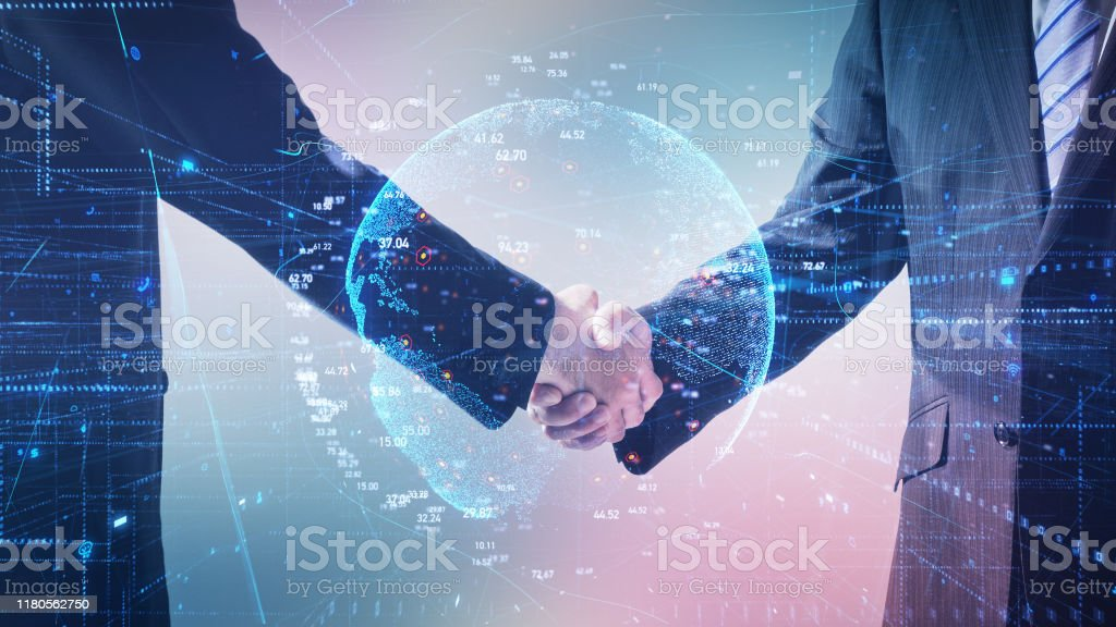Global business concept. Communication network. - Royalty-free Abstract Stock Photo
