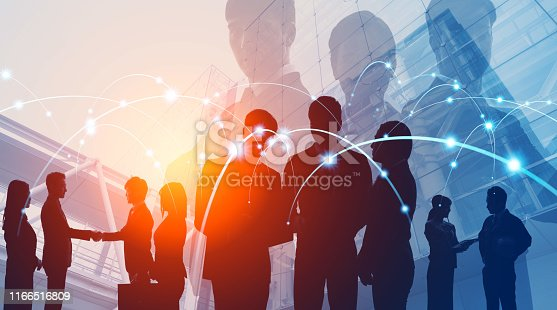 istock Global business concept. Network of business. Diversity. 1166516809