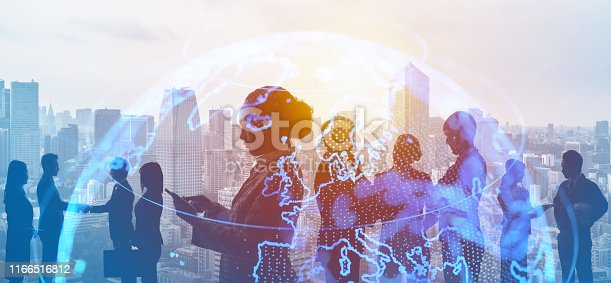 istock Global business concept. Network of business. Diversity. 1166516812