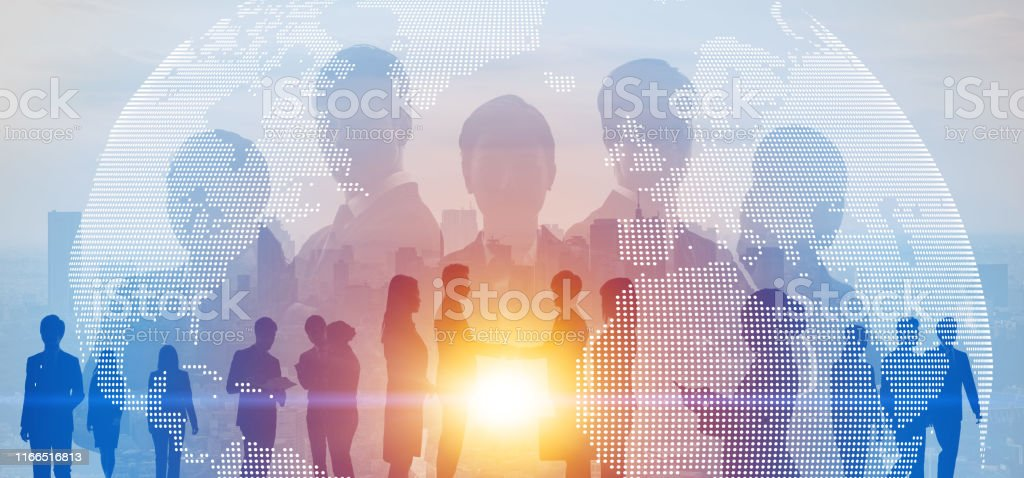 Global business concept. Network of business. Diversity. - Royalty-free Adult Stock Photo