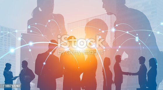 istock Global business concept. Network of business. Diversity. 1169712267
