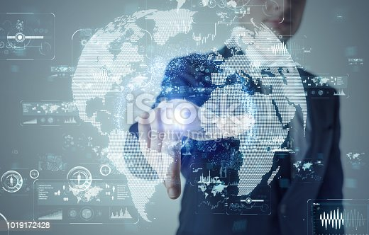 istock Global business concept. 1019172428