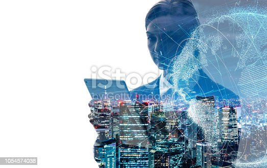 istock Global business concept. 1054574038
