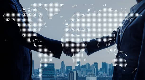 global business concept. - scambio commerciale foto e immagini stock