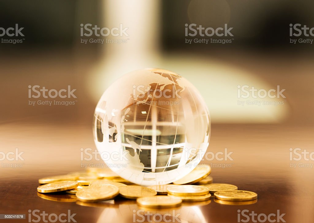Global business concept stock photo
