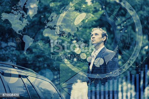 istock Global business concept. 875508420