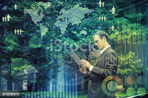 istock Global business concept. 875508474