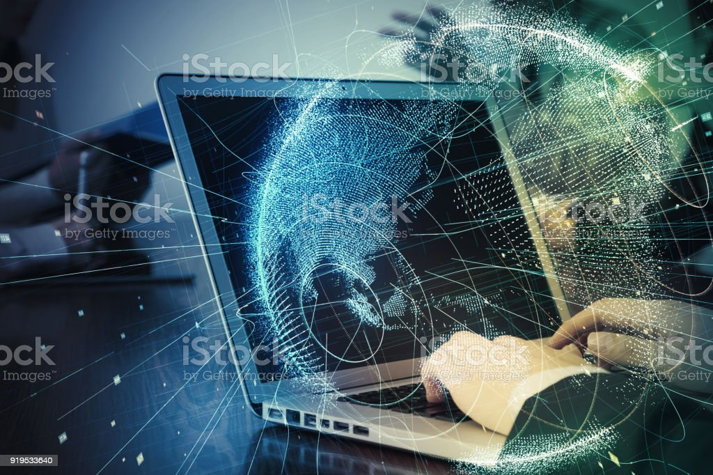 Global business concept. stock photo