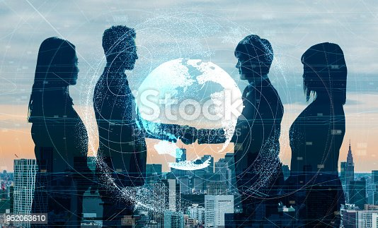 istock Global business concept. Shaking hands businessperson. 952063610
