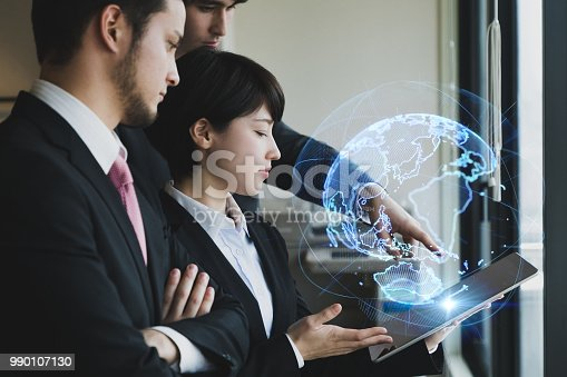 693586040istockphoto Global business concept. Teamwork of business. 990107130
