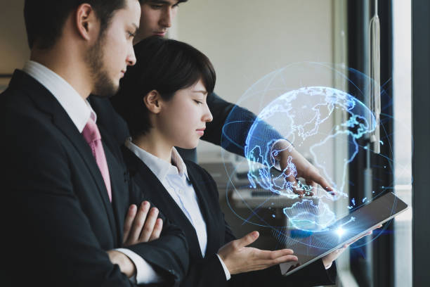 Global business concept. Teamwork of business. stock photo
