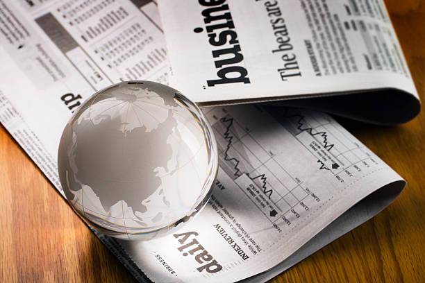 global business financial newspaper for asian economy in china, india - jorden nyheter bildbanksfoton och bilder