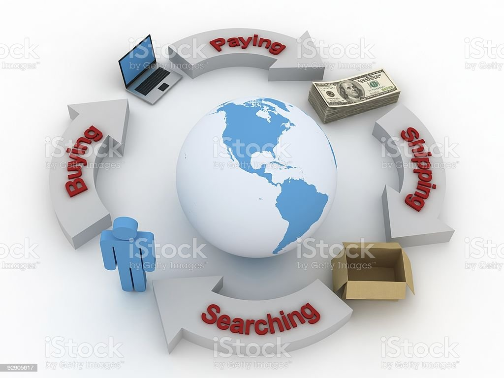 Global Business Flow royalty-free stock photo