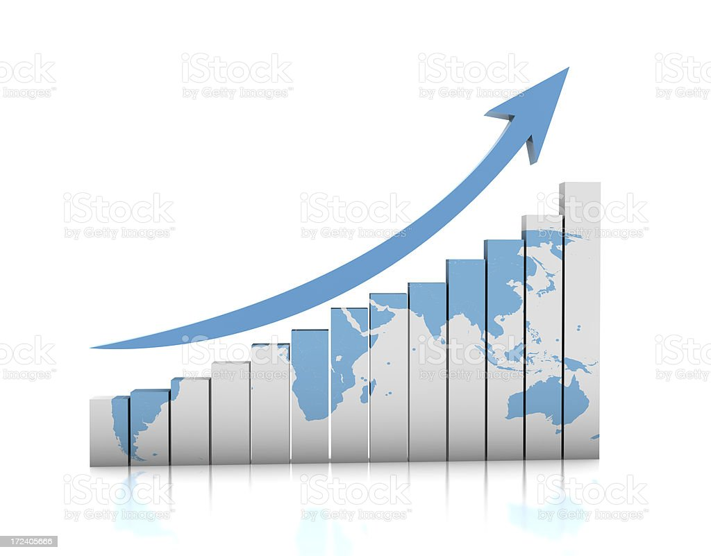 Global Business Graph stock photo