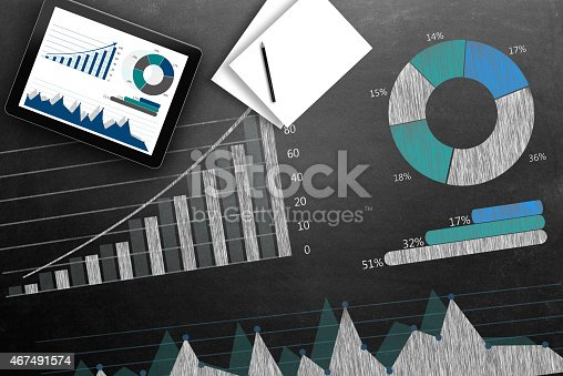 istock Global business growth Infographic drawn on blackboard 467491574