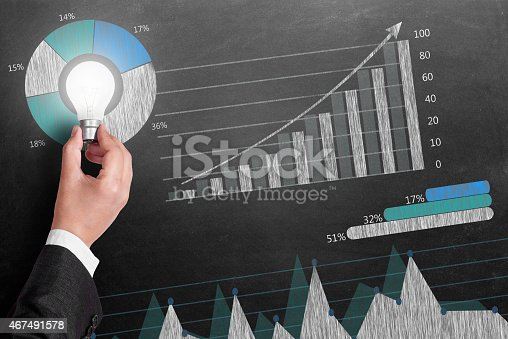istock Global business growth Infographic drawn on blackboard 467491578