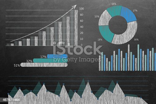istock Global business growth Infographic drawn on blackboard 467671464