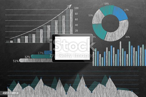 istock Global business growth Infographic drawn on blackboard 495174814