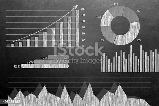 istock Global business growth Infographic drawn on blackboard 496236182
