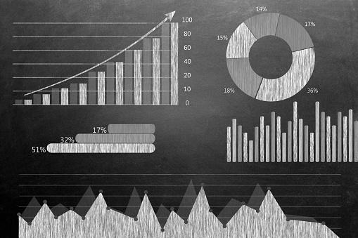 istock Global business growth Infographic drawn on blackboard 496236182