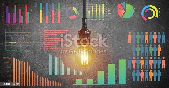 istock Global business growth Infographic drawn on blackboard 908016972