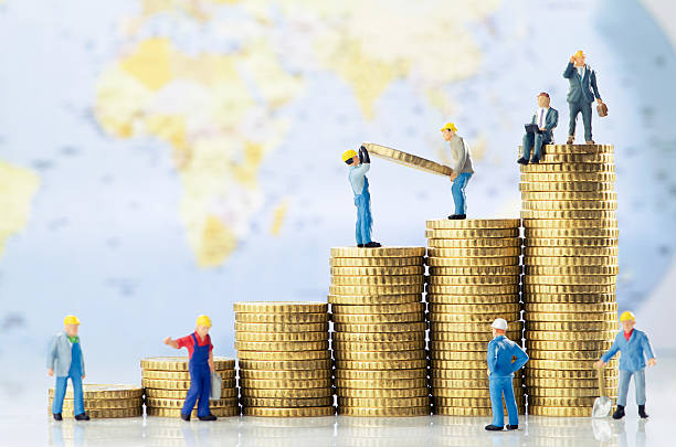 global business growth - figurine stock photos and pictures