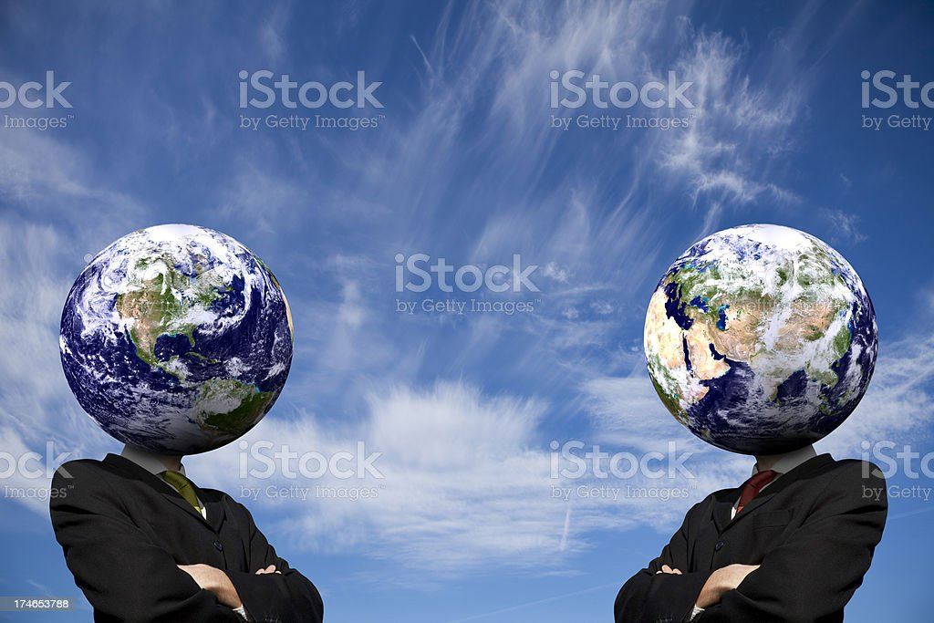 Global Business Heads: East Meets West royalty-free stock photo