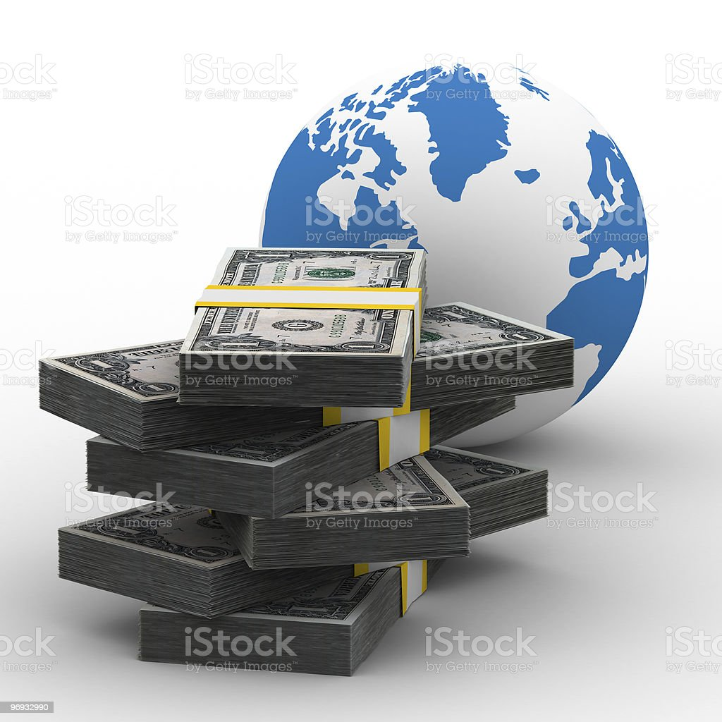 Global business. Isolated 3D image on white royalty-free stock photo