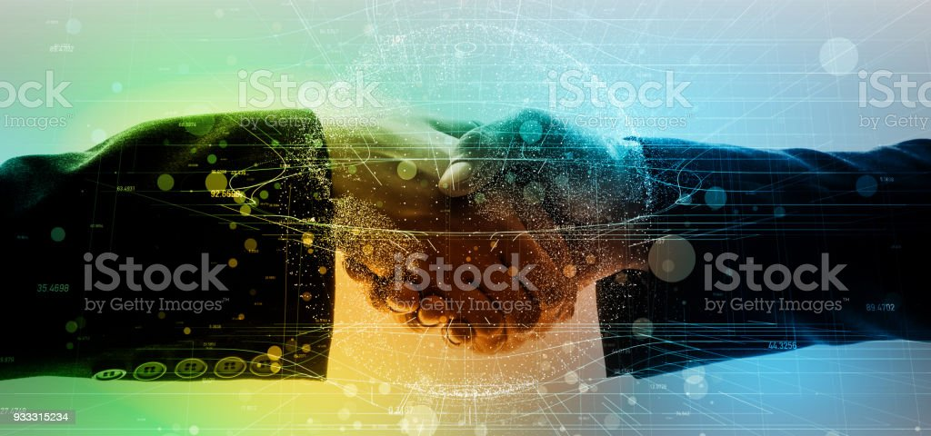 Global business network concept. stock photo