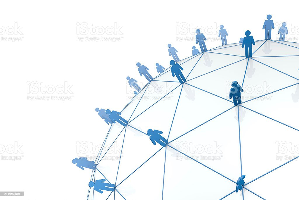 Global business network stock photo