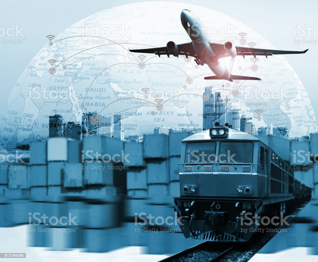 Global business of  logistic import export, stock photo