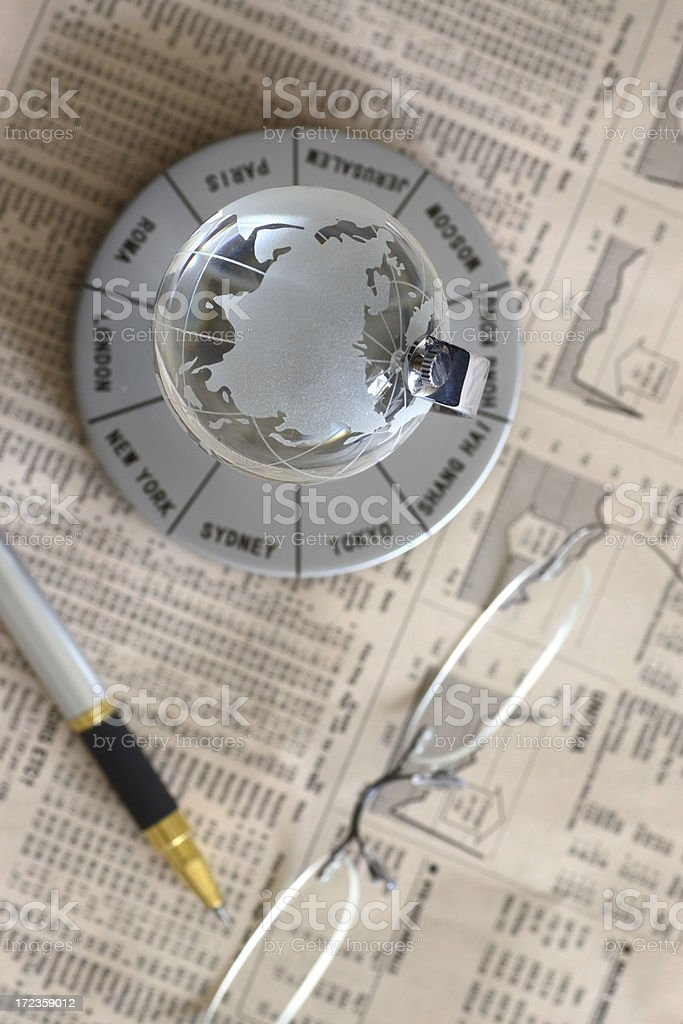 Global business planning royalty-free stock photo