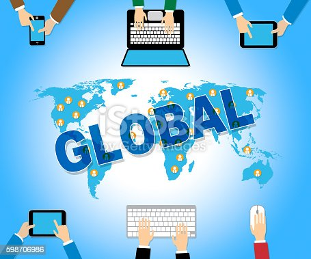 Global Business Showing International Trading And Websites