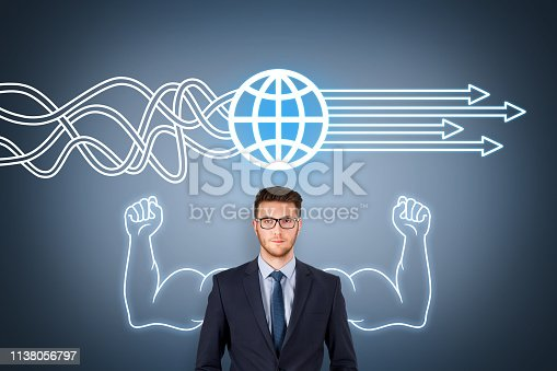 istock Global Business Solution Concepts on Screen 1138056797