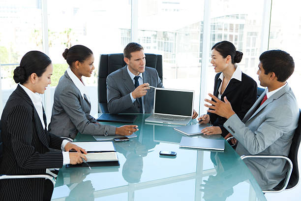 Global business strategy stock photo