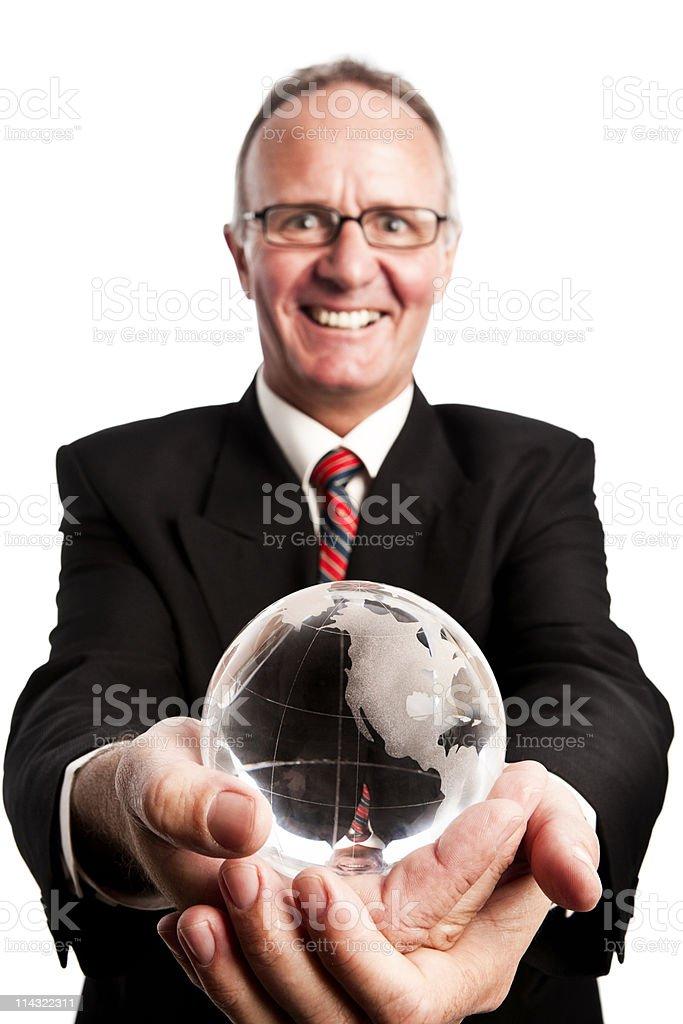 Global businessman royalty-free stock photo