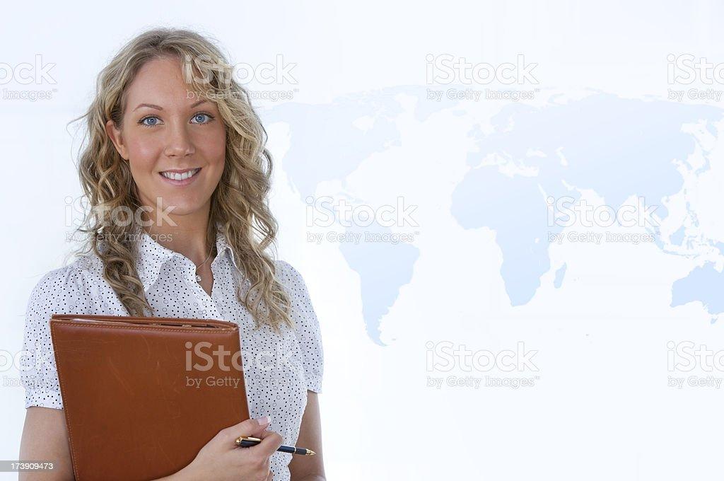 Global businesswoman stock photo