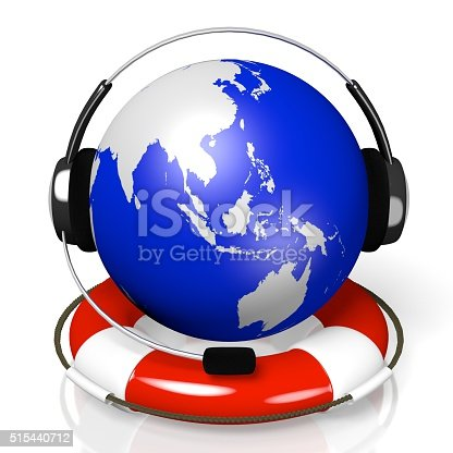 538675410istockphoto 3D global call centre - headset and rescue wheel concept 515440712