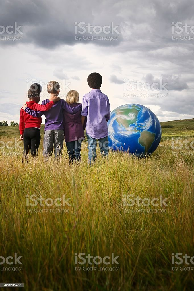 Global Children stock photo