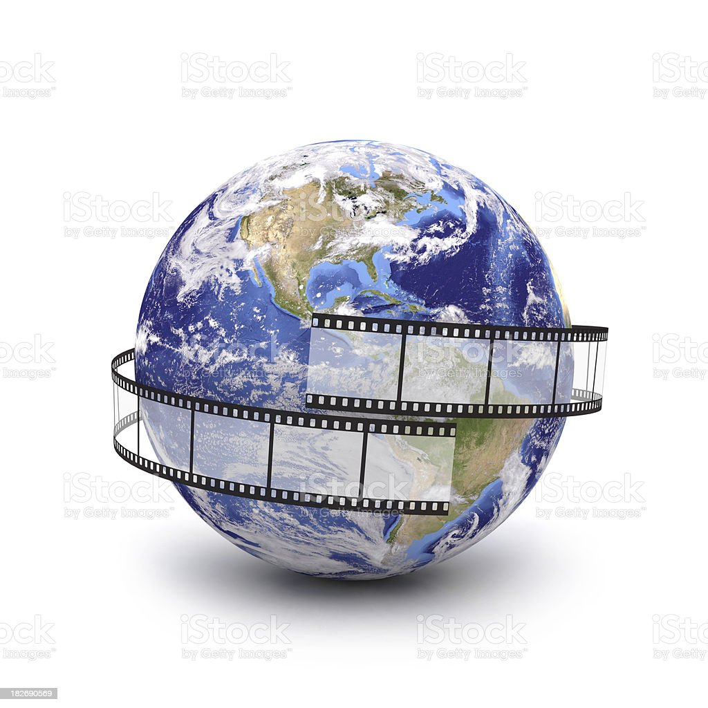 global cinema production stock photo
