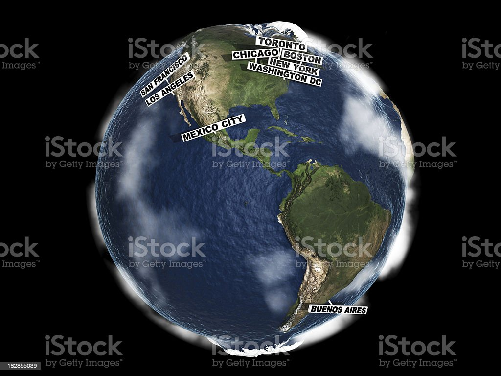 Global Cities Index Earth royalty-free stock photo
