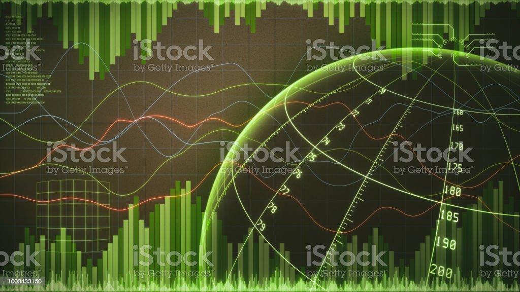Datenbalken Analyse globaler Commerce & Linie Diagramm mit Infografiken – Foto
