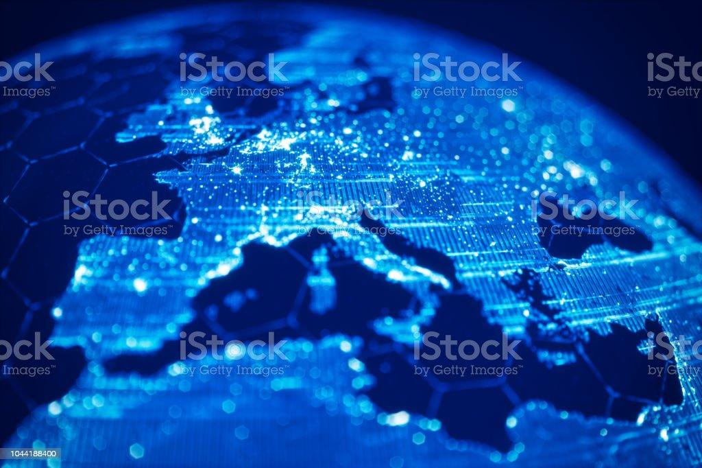 Globale Kommunikation und Technik (World Map Credits an die NASA) – Foto