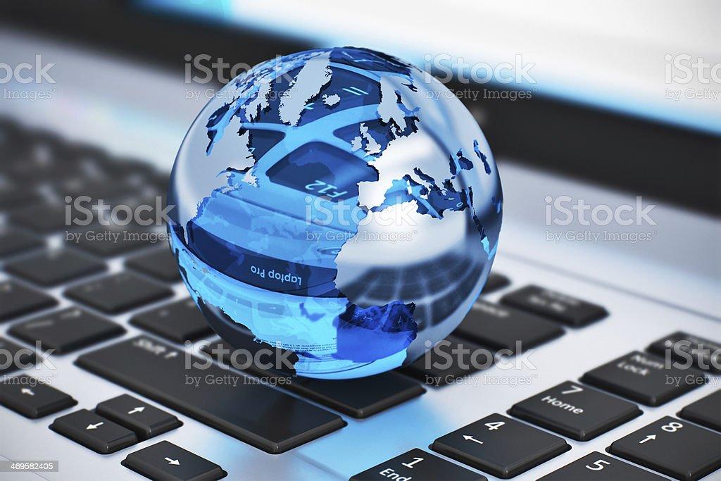 Global communication concept stock photo